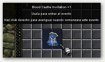 Blood Castle Invitation